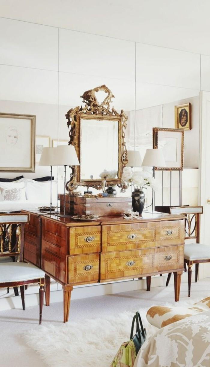 Comment décorer avec le grand miroir ancien   idées en photos