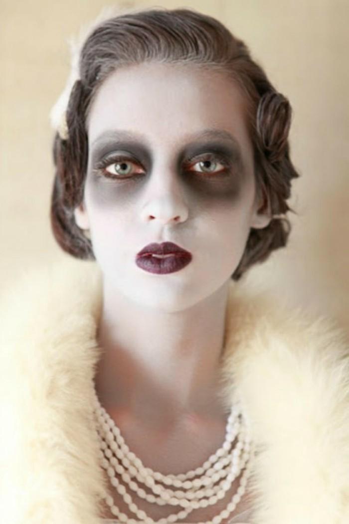 idee-maquillage-halloween-excellente-deguisement-retro-a-combiner-avec ...