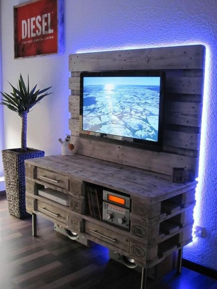 comment faire un meuble tv dangle ide trs originale meuble en palette design - Idee Meuble Tv Dangle