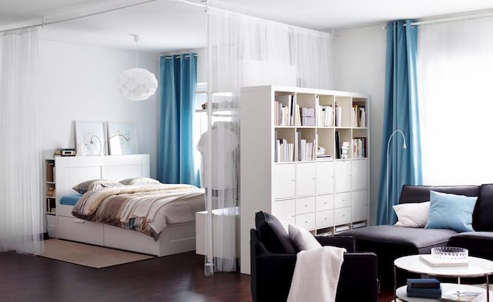 idee-amenagament-studio-separateur-de-piece-ikea-kallax