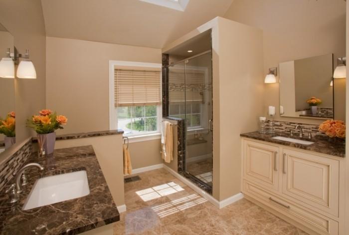 Peinture salle de bain 80 photos qui vont vous faire craquer - Couleur de peinture pour salle de bain ...