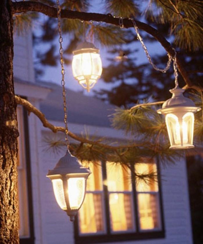 idee-lanterne-décoration exterieur-pour-amenagement-jardin-et-aménager-sa-terrasse