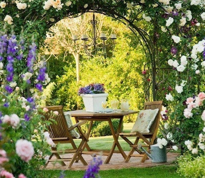 Beautiful Idee Deco Jardin Romantique Pictures Design Trends 2017
