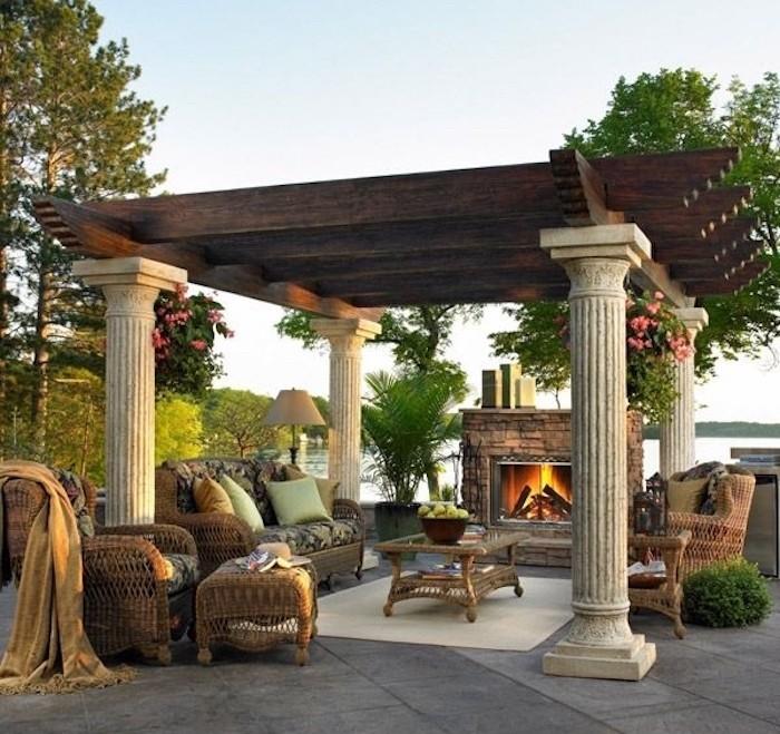 jardin-mediterraneen-grec-grece-style-idee-deco-design-colonnes