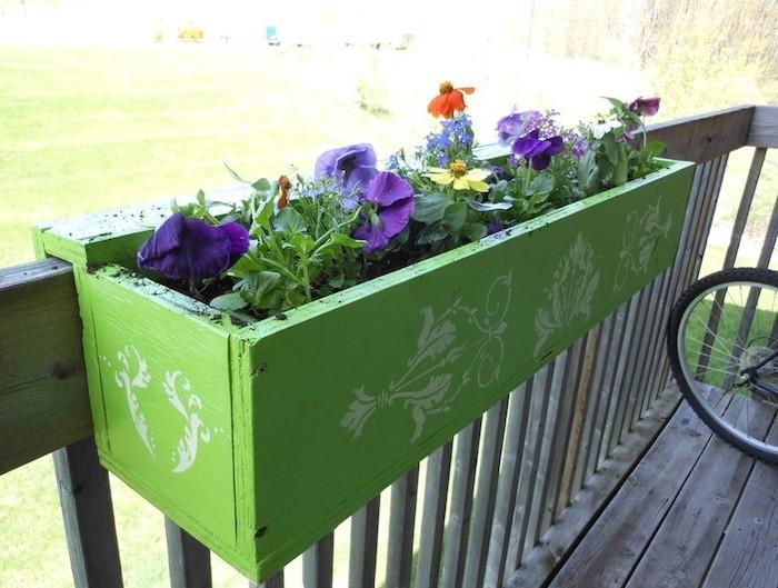 jardinière en bois jardiniere balco idee decoration exterieur