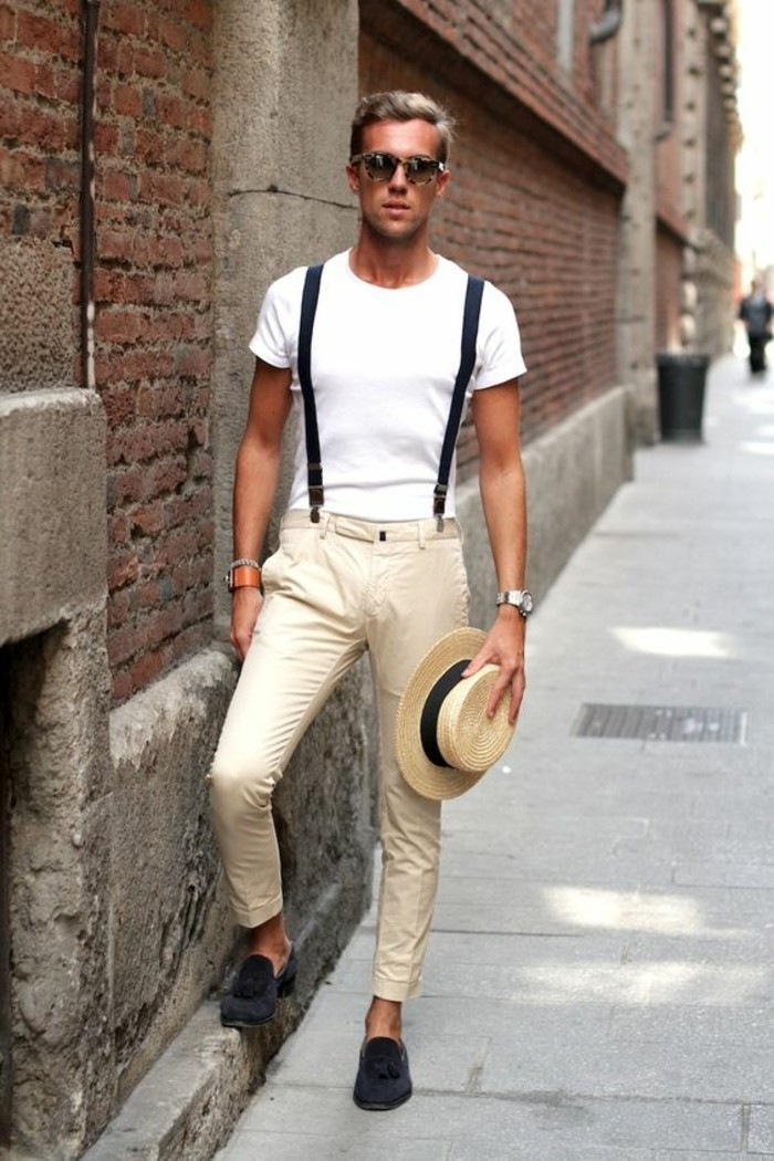jean-avec-bretelle-jean-bretelle-mode-2016-idées-chemise-blanhe