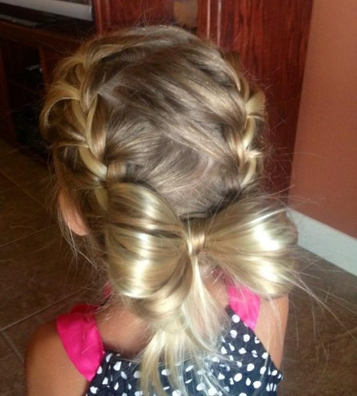 jolie-noeud-tresse-suggestion-formidable-coiffure-fillette