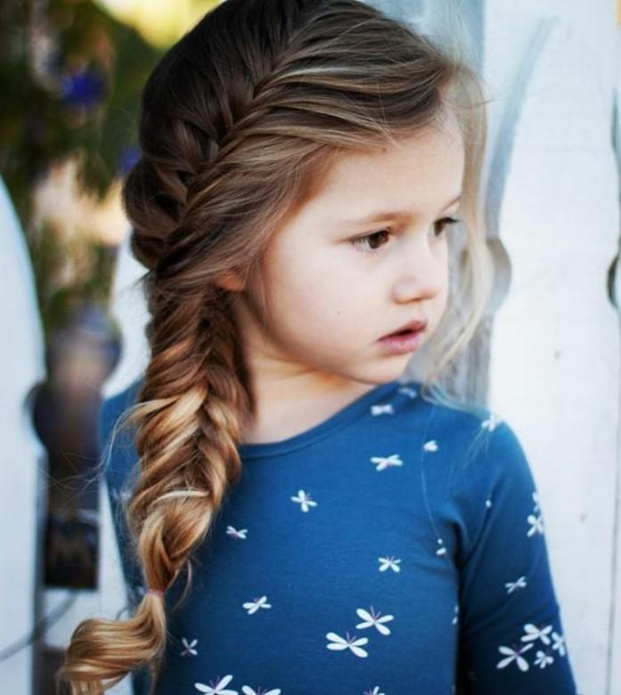Tresse enfant 70 id es g niales pour les petites demoiselles - Comment faire une tresse sur le cote ...