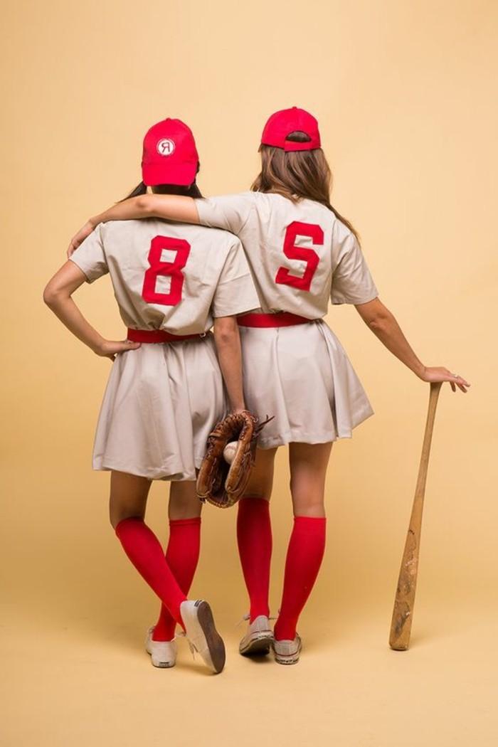 joueuses-de-baseball-excellente-idee-deguisement-halloween-deguisement-a-faire-soi-meme