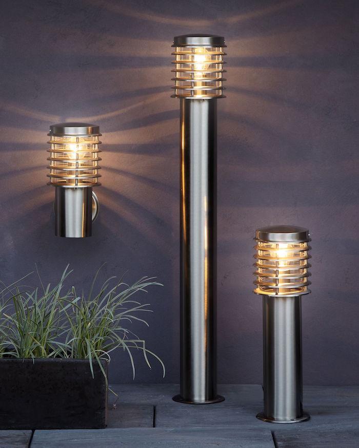 Lampadaire exterieur design 42 id es lumineuses for Lumiere exterieur jardin