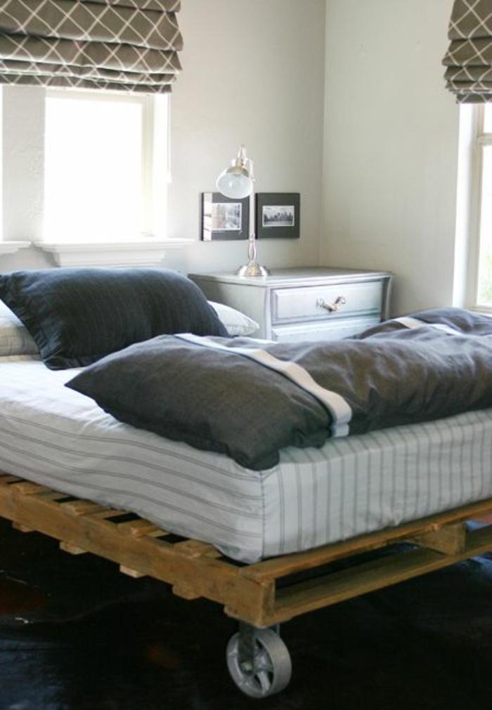 comment faire un lit en palette 52 id es ne pas manquer. Black Bedroom Furniture Sets. Home Design Ideas