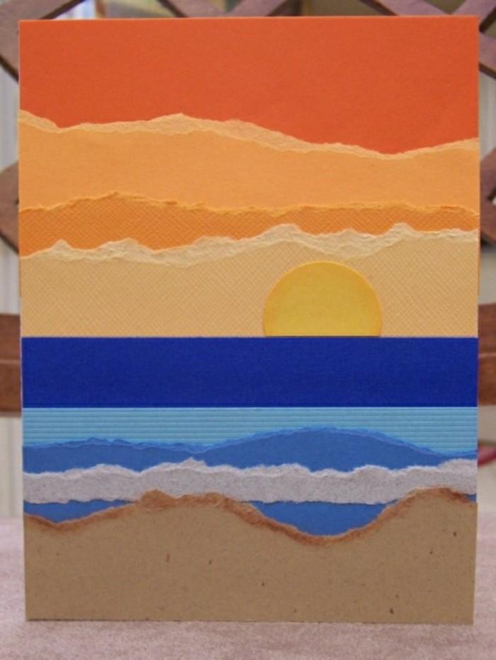 magnifique-carte-diy-bricolage-dessiner-votre-propre-carte-de-voeux-mer-et-couche-de-soleil