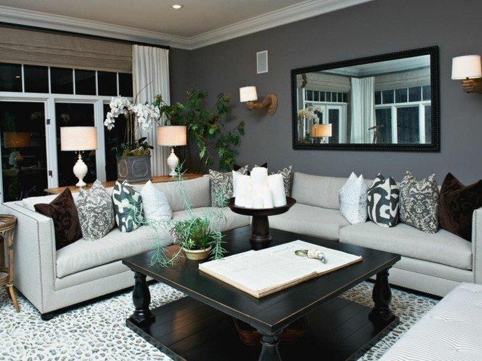magnifique-suggestion-couleur-mur-salon-taupe-canape-gris-petite-table-en-bois-deco-plantes-salon-majestueux
