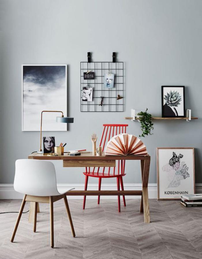 meuble-bureau-design-chaise-scandinave-et-petit-bureau-bois