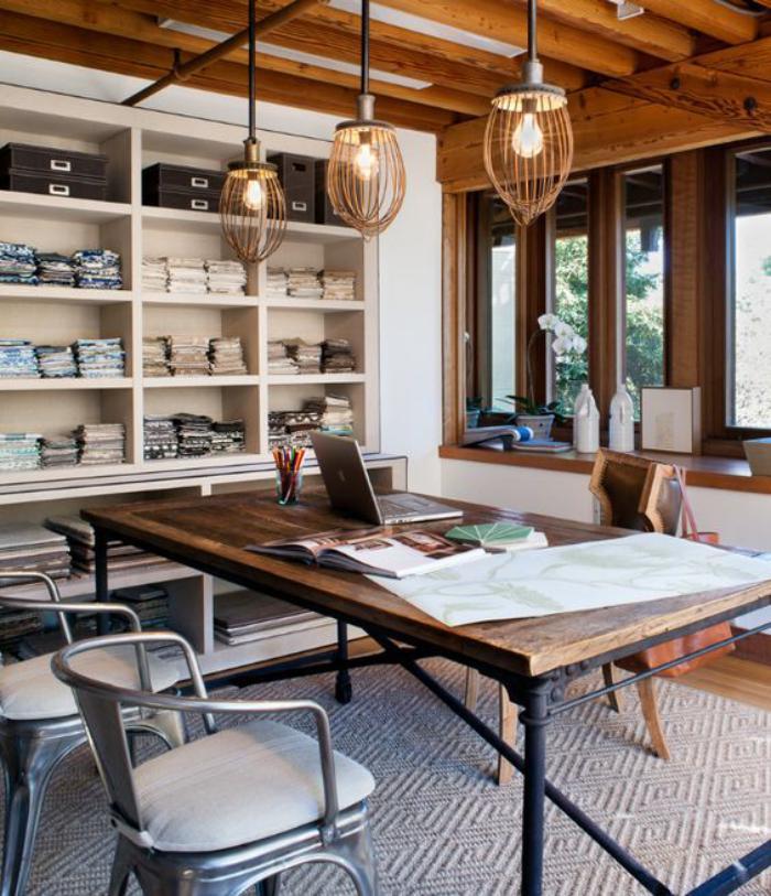choisissez un meuble bureau design pour votre office à la maison ... - Meuble En Fer Design