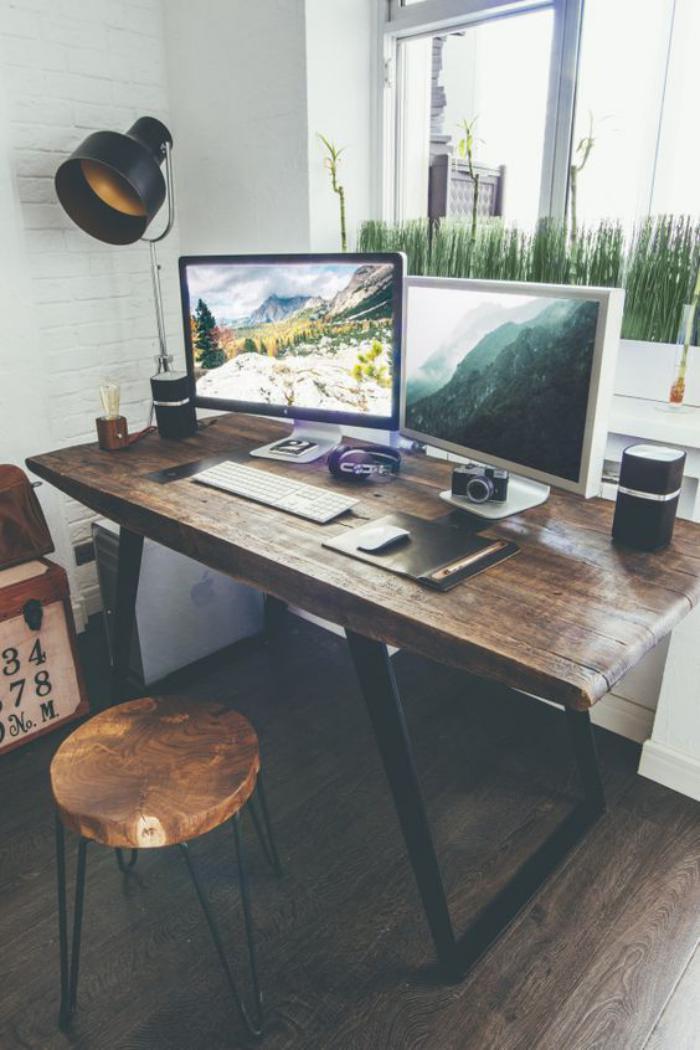 meuble-bureau-design-industriel-tabouret-et-treteau-en-metal