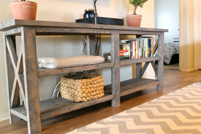 Fabriquer un meuble tv instructions et mod les diy - Fabriquer bureau en palette ...