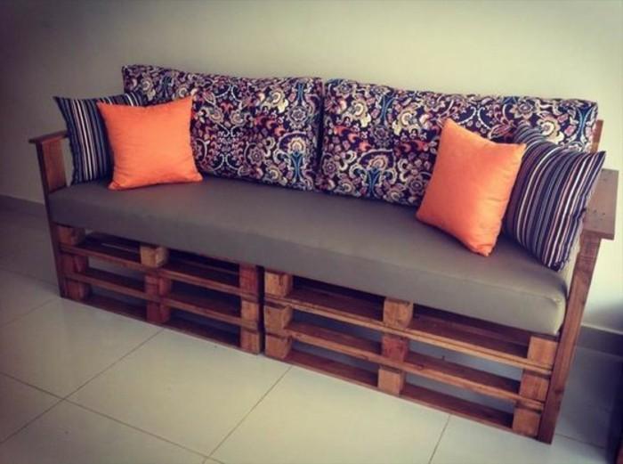 Comment fabriquer un canap en palette tuto et 60 super - Fabriquer meuble industriel ...