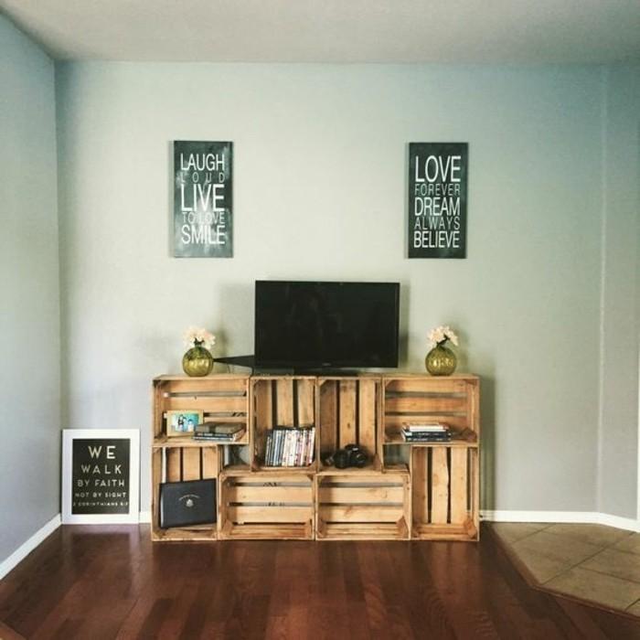 Fabriquer un meuble tv instructions et mod les diy - Meuble fabrique avec des palettes ...