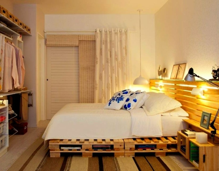 small bedroom diy ideas comment faire un lit en palette 52 id 233 es 224 ne pas manquer 17140