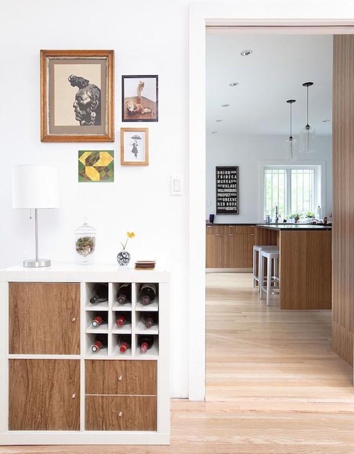 meuble-entree-etagere-kallax-ikea