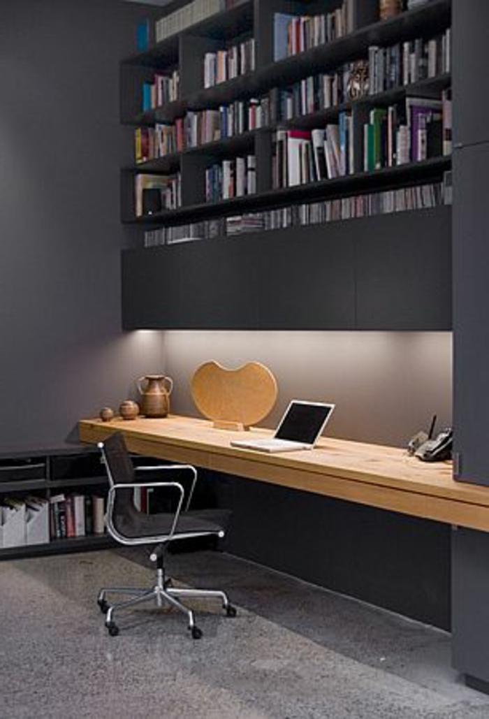 Le meuble informatique 80 id es magnifiques en photos - Couleur mur bureau maison ...