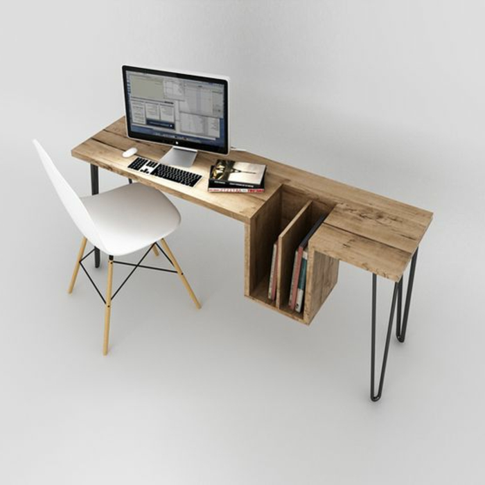 meuble-informatique-interessant-ordinateur-blanc-chaise