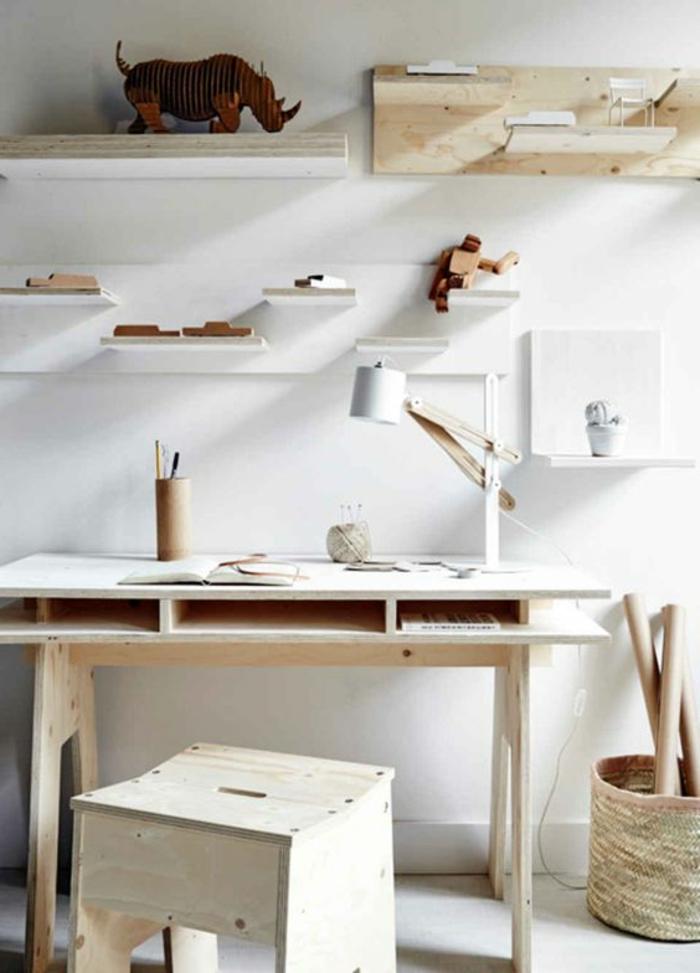 meuble-informatique-lumiere-clair-blanc-tabouret