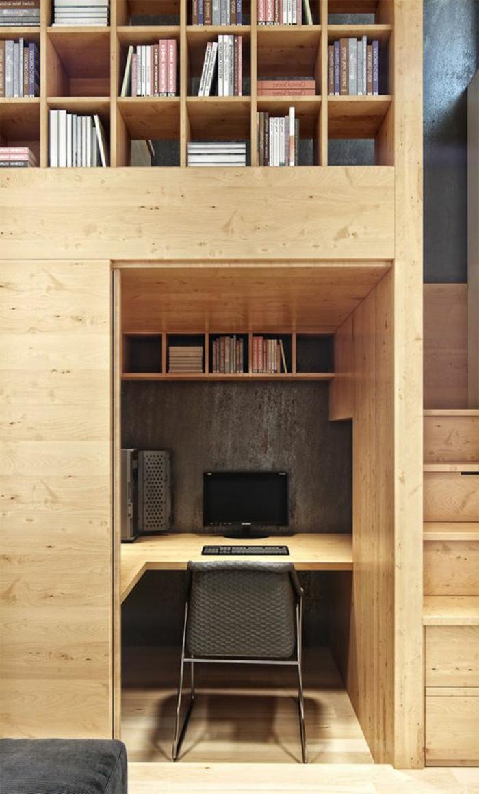 Bureau Informatique Petit Espace le meuble informatique - 80 idées magnifiques en photos