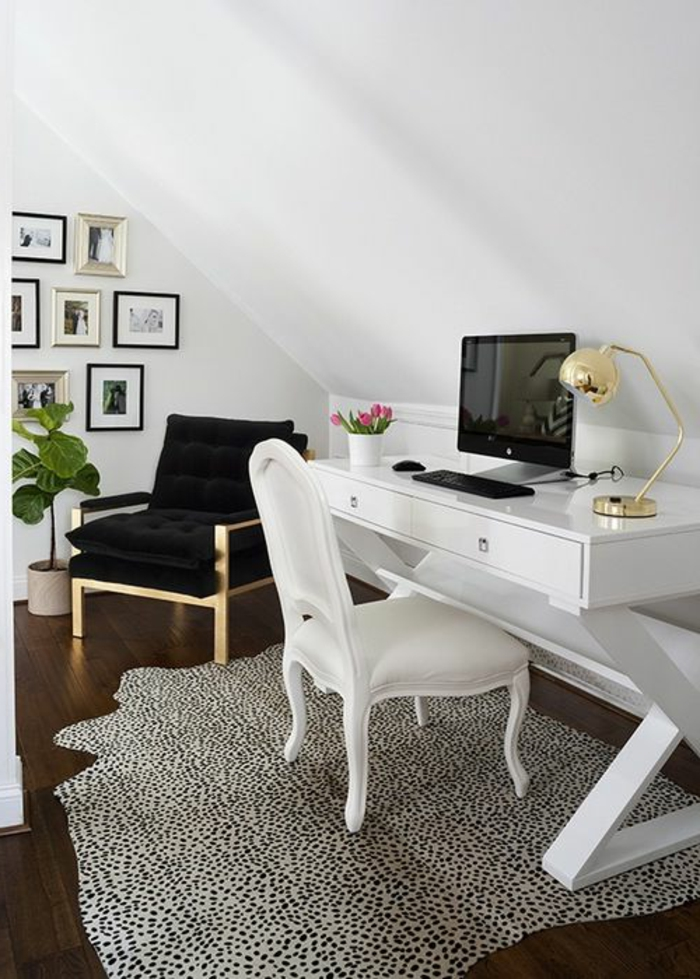 meuble-informatique-salle-photos-blanc-laptop-tapis-coin
