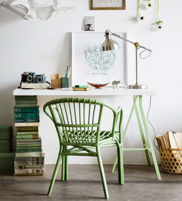 meuble-informatique-vert-blanc-mur-chaise