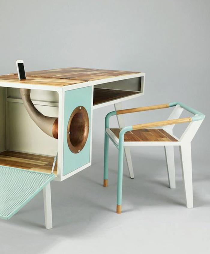 meuble-informatique-vert-chaise-bureau