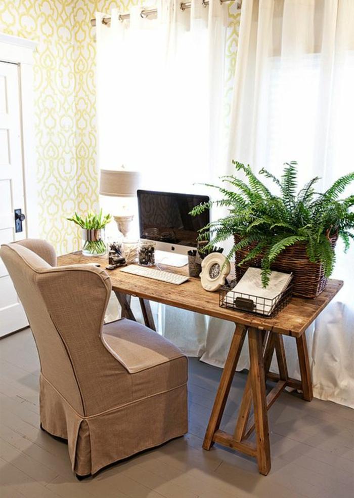 meuble-informatique-vert-fleur-fauteuil-laptop