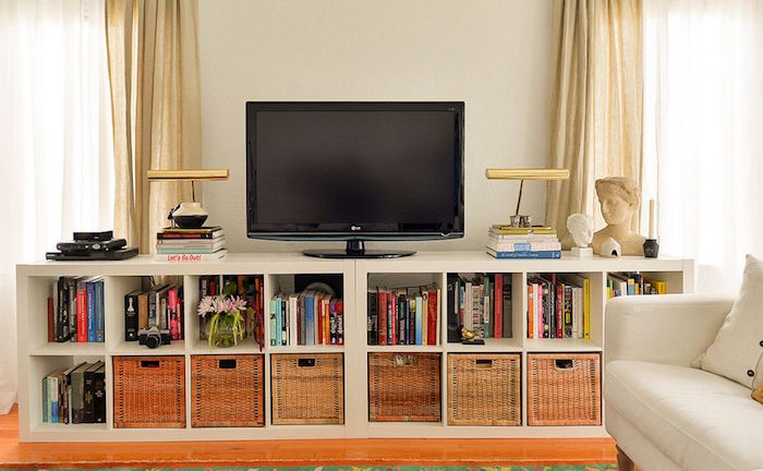 Tag re kallax ikea 69 id es originales de l 39 utiliser - Meuble tv bibliotheque ikea ...