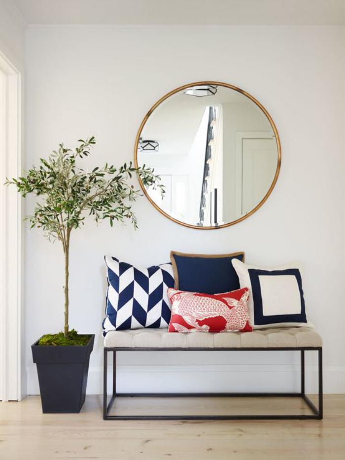 miroir-d-entree-design-rond-cadre-dore