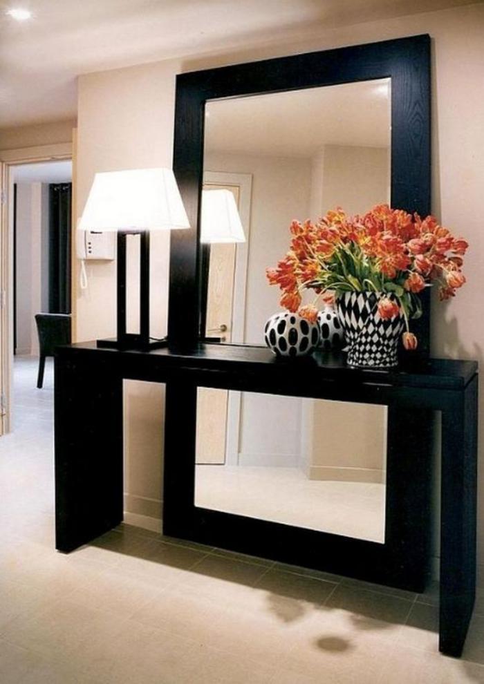 miroir-d-entree-miroir-et-console-noirs
