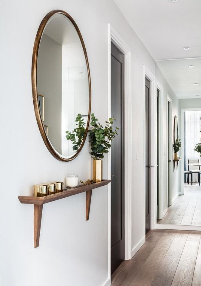 Quel miroir d entr233e choisir pour son int233rieur jolies  : miroir d entre miroir mural rond et tagre e1473776296505 from archzine.fr size 698 x 992 jpeg 89kB
