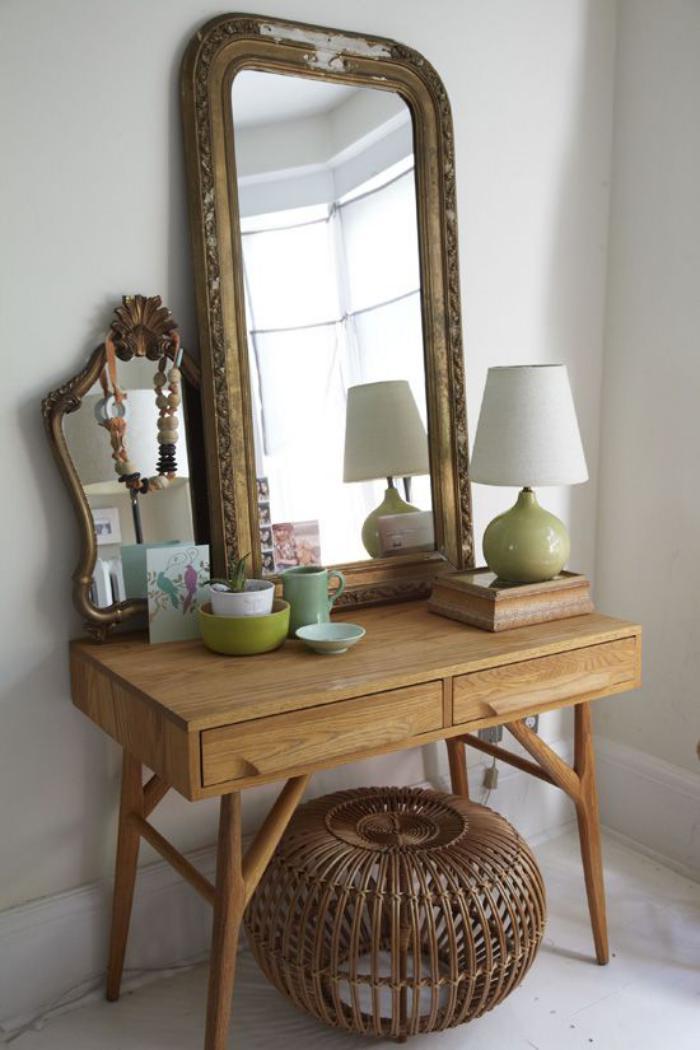 miroir-d-entree-petite-console-dentree-avec-deux-tiroirs