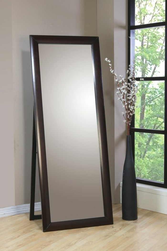 76 id es avec un miroir grand format for Grand miroir gris