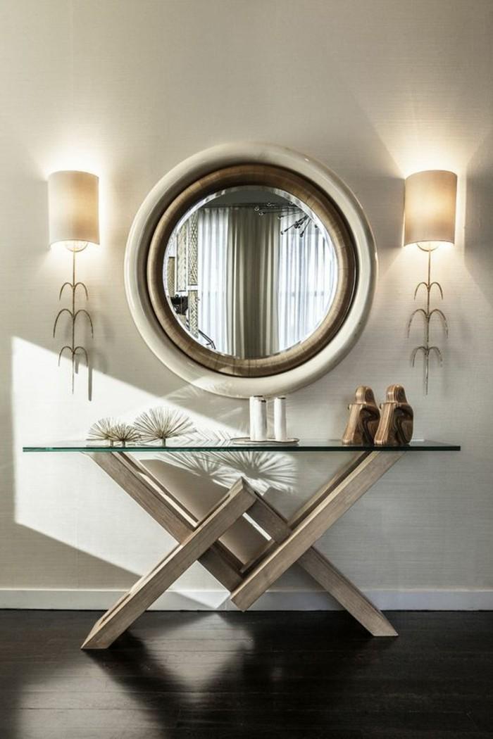 miroir-grand-format-rond-bois-table-lampe