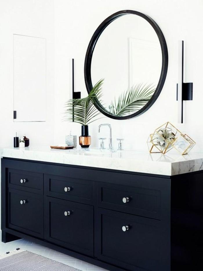 miroir-grand-format-rond-cadre-fleur-moderne