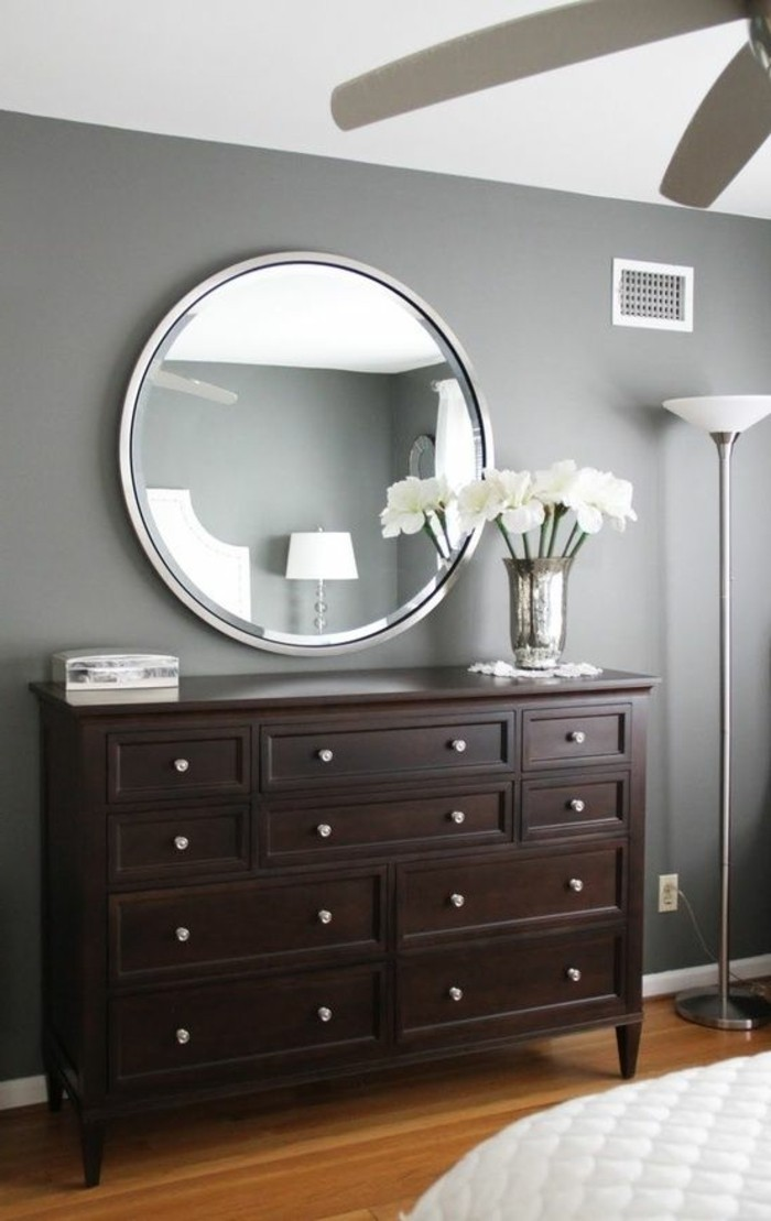 76 id es avec un miroir grand format for Grand miroir rond design