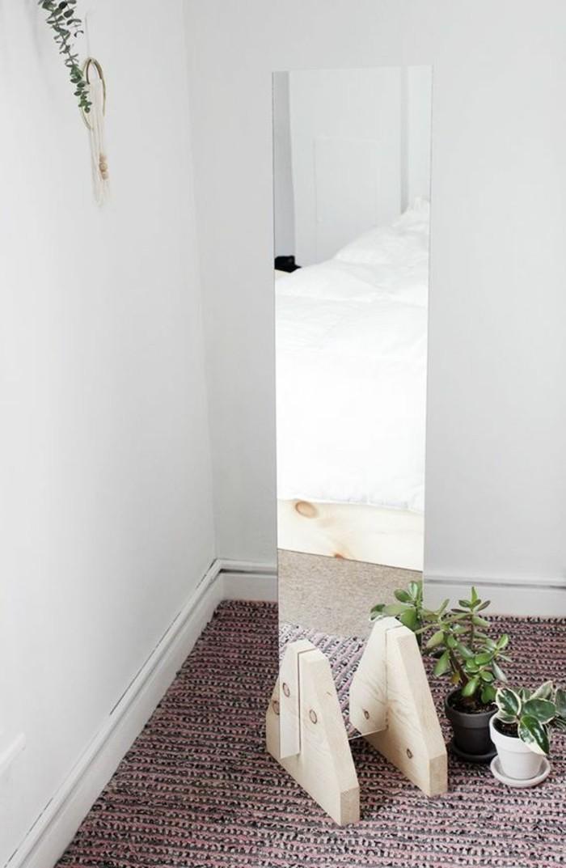 miroir-grand-format-stylistique-vert-fleur-bois-detail