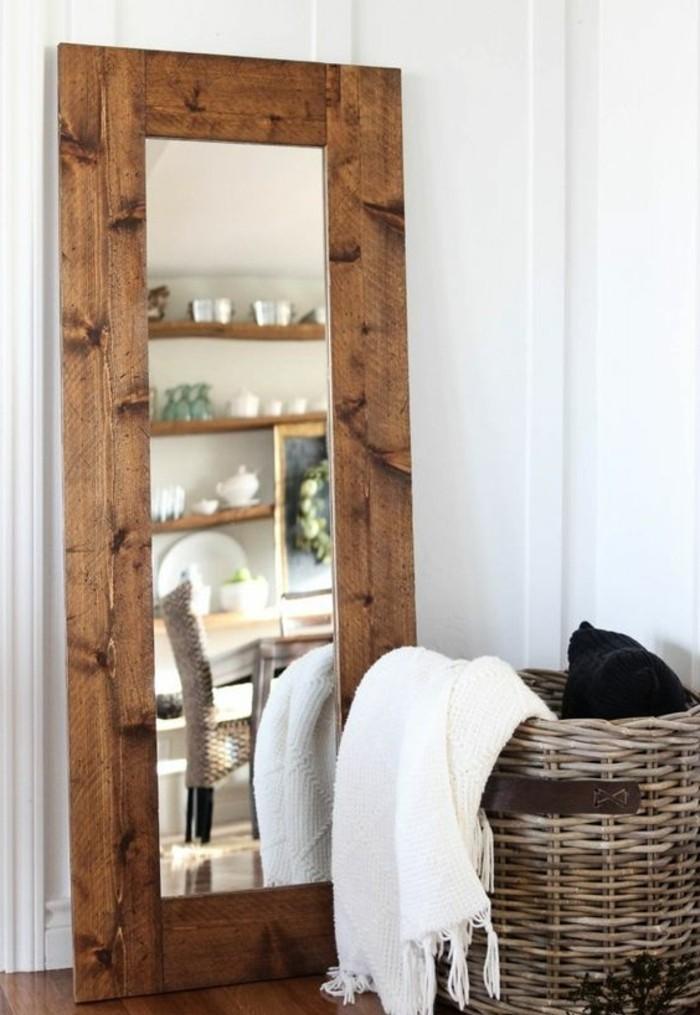 miroir-grand-format-tricotee-couverture-cadre-en-bois
