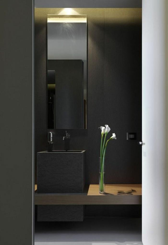 miroir-grand-format-vase-fleur-vert-mur-noir