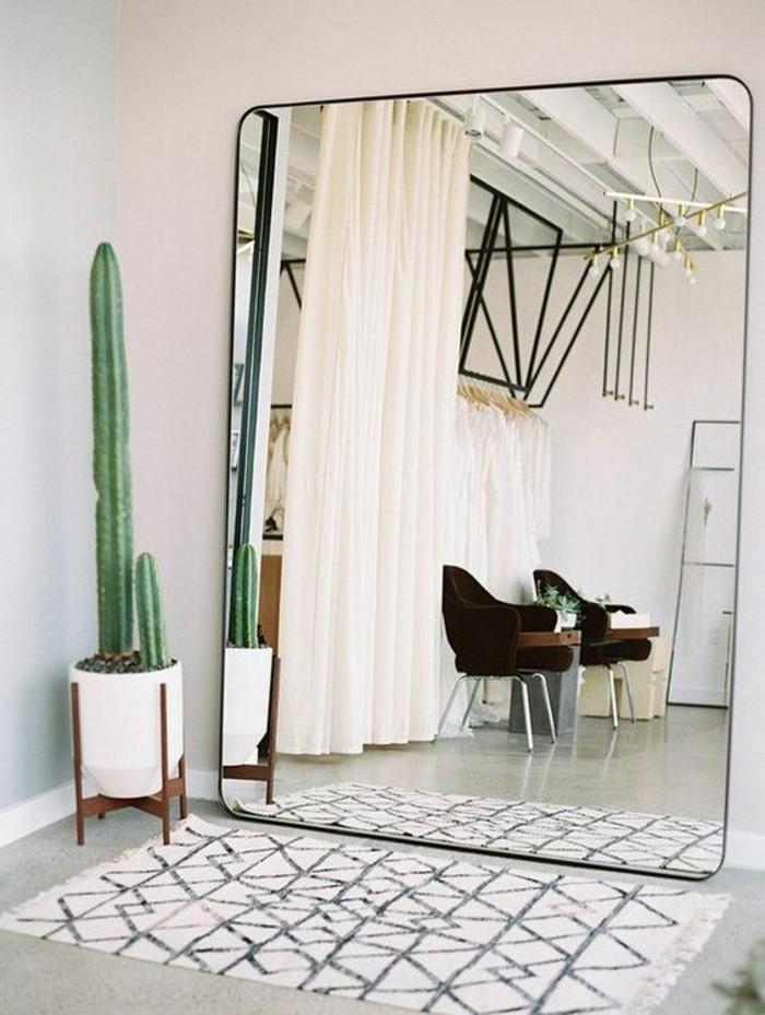 miroir grand format esprit industriel vintage et grand format miroir grand format sans cadre. Black Bedroom Furniture Sets. Home Design Ideas