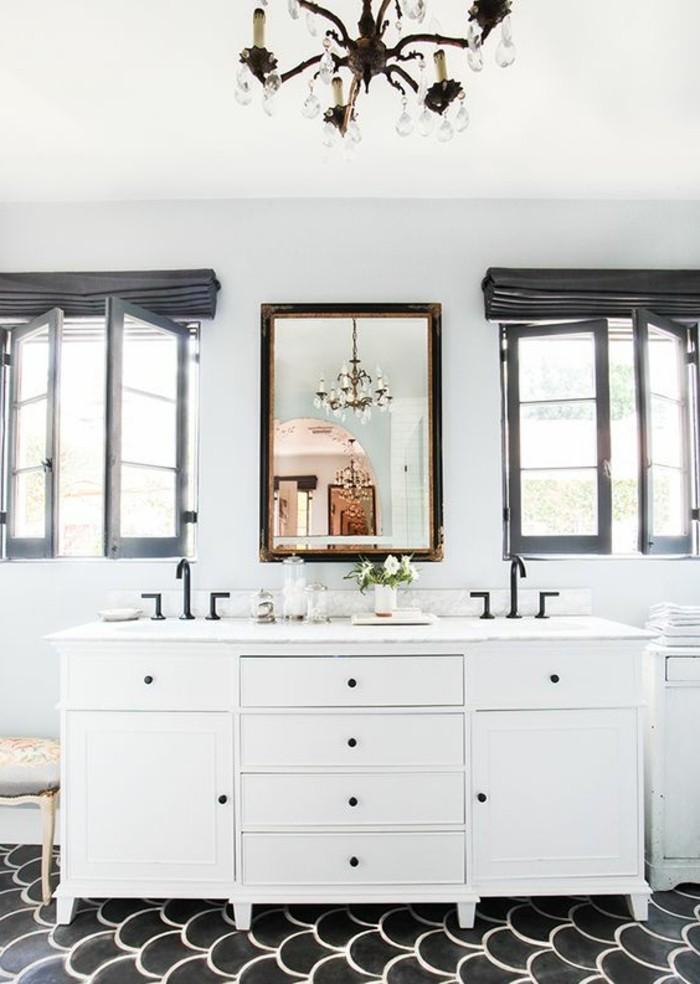 Le miroir salle de bain l ment cl de la d coration - Salle de bain kaki ...