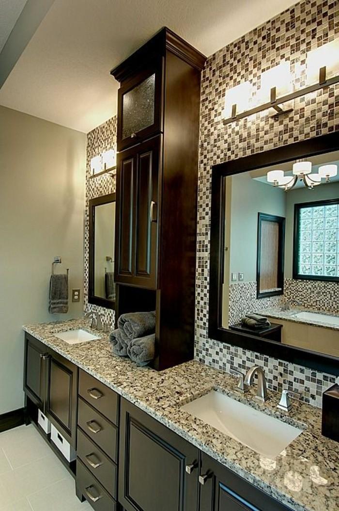 Le miroir salle de bain l ment cl de la d coration for Armoire salle de bain noir