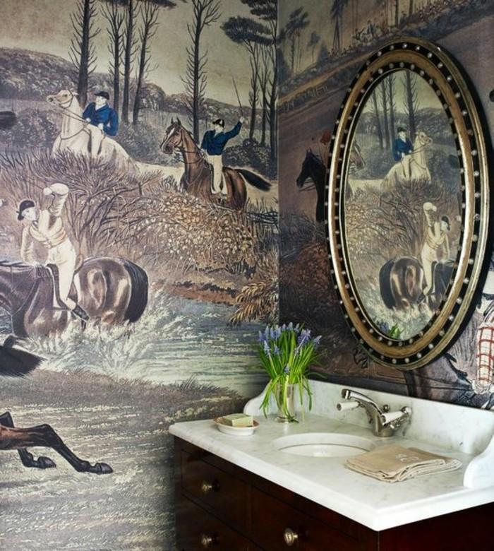 miroir-salle-de-bain-lavabo-blanc-miroir-ovale-papier-interessant