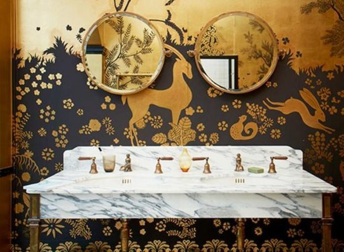 miroir-salle-de-bain-lavabo-moderne-papier-peint-interessant